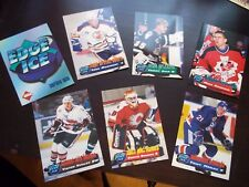 1995 COLLECTOR'S EDGE ICE PROMO HOCKEY CARDS COVER & PR1-6 7 CARD RARE SET