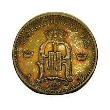 elf Sweden 25 Ore 1874 Silver Oscar Ii