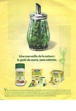 PUBLICITE ADVERTISING   2011  STEVIA  sweet sucre sans calories...