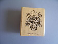 STAMPIN' UP RUBBER STAMPS JUST FOR YOU FLOWERS STAMP