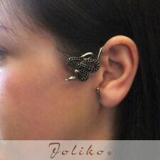 JoliKo Ohklemme Ohrringe Ear cuff Python Schlange Knoten Knot Snake Viper LINKS