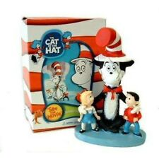 Dr Seuss Cat In The Hat W/ Kids Resin Bobble head Figure ,Mib