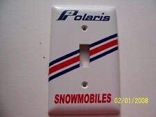 1- POLARIS Snowmobiles Standard Light Switch Plate Cover (NEW) Vintage Looking