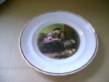 DECORATIVE PLATE OF  TWO POOR CHILDREN  AND A BASKET