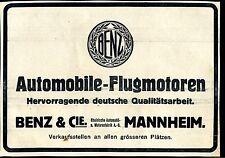 Benz--Automobile -Flugmotoren-Mannheim-Werbung von 1916