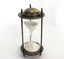 Antique Nautical hour glass brass antique finish Sand Timer Marine Decorative GF