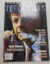 SIGNED The X-Files Magazine! William B. Davis auto! The smoking man! Fall 1997!