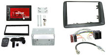 Fiat Panda 03-12 2-DIN Autoradio USD SD iPhone Android Radioblende grau