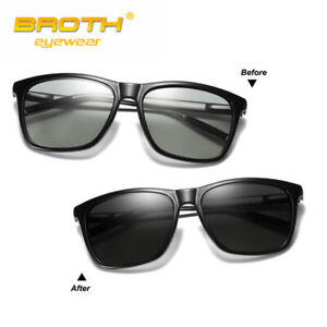 Polarized Photochromic Sunglasses Driving Cycling Goggles Night Glasses Unisex