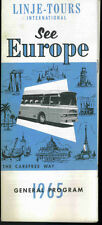 Vintage 1965 Linje Tours International Travel Brochure - See Europe