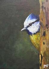 Original Impressionist Painting by Melanie Reynoso Parker : The Blue Tit