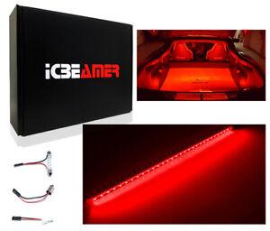"Red 12"" HID Bright LED strip light Interior Auto Trunk Cargo Illumination X159"