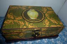 Tea Bag Chest Wooden tea box Organizer w/ 3D Tea Scene ASIAN style exotic teas