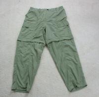 NEW World Wide Sportsman Pants Adult Extra Large Green Zipper Shorts Hiking Mens