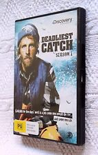 DEADLIEST CATCH- SEASON 1(DVD, 3-DISC), R-4, LIKE NEW, FREE POST IN AUSTRALIA
