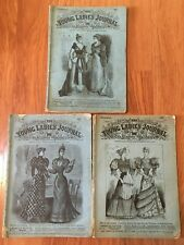 "3 ISSUES 1892 & 93  ""THE YOUNG LADIES JOURNAL"" INTERNATIONAL NEWS PUBLISHING CO."