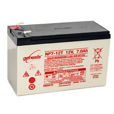Enersys Genesis 12V 7AH F2 Battery Replacement for Exide EP1234W