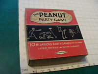 Vintage VERY SCARCE GAME: THE PEANUT PARTY GAME w cups, spoons, instructions 10
