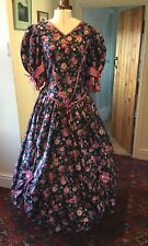 VINTAGE 1980's VICTORIAN STYLE FLORAL BRIDESMAID/EVENING DRESS