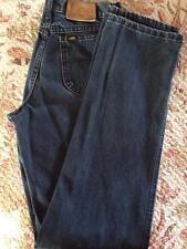 Vintage Lee Men's Dark Blue Denim Jeans USA Made High Rise Old School 30X35