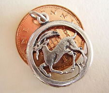 BEAUTIFUL '  CAPRICORN ' SOLID SILVER ZODIAC CHARM