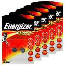 10 x Energizer 357/303 batteries Sillver oxide SR44 SR1154SW SR1154W EXP76 1.55V