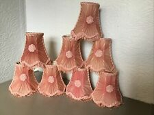 Pretty Vintage Dusky Pink Pleated Chiffon Clip on Lamp Shade-8 available #6319