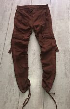 """Men's Asos Ruched Cargo Trousers With Buckles Warm Brown W30"""" L32R"""""""