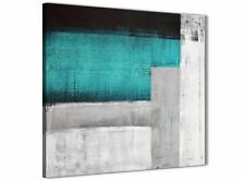 Teal Turquoise Grey Painting Kitchen Canvas Wall Decor - Abstract 1s429m - 64cm