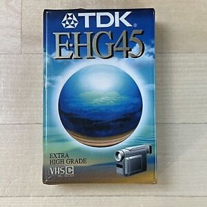 TDK E-HG45 Extra High Grade VHSC Tape Sealed Made In Japan