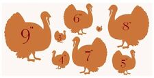 Stencil Primitive Rustic Turkeys 8 sizes individually cut Thanksgiving