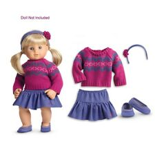 """American Girl BT BITTY TWIN FAIR ISLE SKIRT SET for 15"""" Baby Dolls Clothes NEW"""
