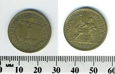 France 1922 - 1 Franc Chamber of Commerce Aluminum-Bronze Coin
