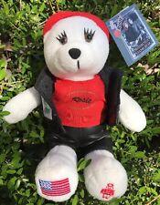 Retired 2004 Rosie Motorcycle USPS Postal Stamp Bear Plush Eagle Embroiderd Vest