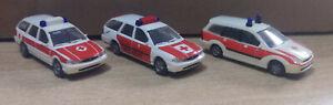 Konvolut Notarzt Modelle Rietze, Ford Focus, Mondeo (Q) 1/87