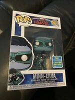 "NEW Funko POP! Marvel Captain Marvel #487 ""Minn-Erva"" - Bobble-Head - SDCC Exclu"