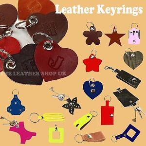 ***100% LEATHER KEYRINGS***Made In England Keys Holder New Handmade Design