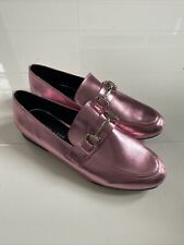 Ladies Pink Loafers Size 5