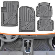Motor Trend All-Trim Heavy Duty Odorless Rubber Car Floor Mats Gray Liners