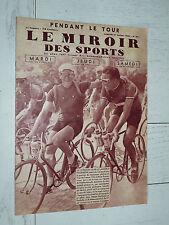 MIROIR SPORTS 1935 N°841 CYCLISME TOUR FRANCE ROMAIN MAES MORELLI EQUIPE BELGE