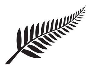 New Zealand Fern - MANY COLORS - Car Sticker Decal Vinyl For NZ All Blacks Kiwi