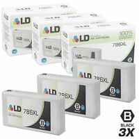LD Remanufactured Replacements for Epson 786XL HY Black Ink Cartridges (3-Pack)