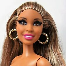 Barbie African American Fashionista Barbie Doll Rooted eyelashes Nude Hybrid