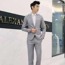 Men's One Button Coat Formal Slim Fit Blazer Jacket Wedding Dress Coat M-3XL
