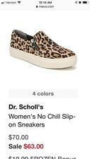 dr Scholls no chill slip on shoes  Leopard