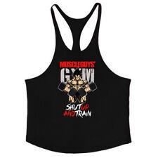 Men Gym TankTop Bodybuilding Vest Muscle Sleeveless Singlets Sport Workout Shirt