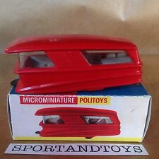 POLITOYS VINTAGE ROULOTTE N.44 Scala 1:41 MADE IN ITALY, PLASTICA.