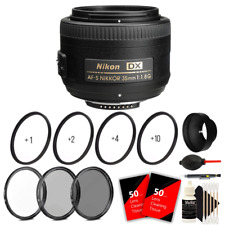 Nikon AF-S DX NIKKOR 35mm f/1.8G Lens + 52mm Macro Accessory Kit