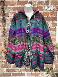 Cashmelon Cashmilon Button hoodie hippie/boho/festival size XXL