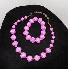 TARINA TARANTINO PINK ROSE NECKLACE AND MATCHING STRETCH BRACELET UNUSED